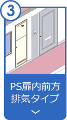 PS扉内前方排気タイプ